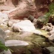 Sedona River Rock Poster