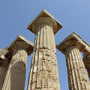 Segesta Greek Temple In Sicily, Italy Poster