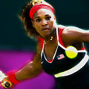 Serena Williams Eye On The Prize Poster