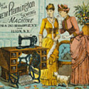 Sewing Machine Ad, C1880 Poster