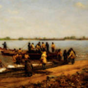 Shad Fishing On The Delaware River Poster