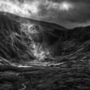 Shaft Of Light At Cwm Idwal Poster