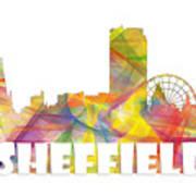 Sheffield England Skyline Poster