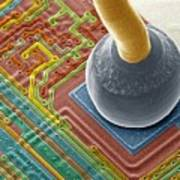 Silicon Chip Micro-wire, Sem Poster by Power And Syred