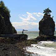 Siwash Rock Stanley Park Vancouver Poster