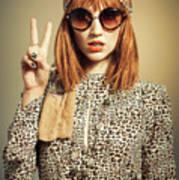 Sixties Retro Fashion Poster