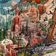 Skunk Creek Trailhead At Bryce Poster