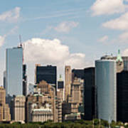 Skyline Of New York City - Lower Manhattan Poster