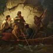 Smuggler In A Boat Poster