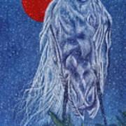 Snow Bird Poster by Shahid Muqaddim