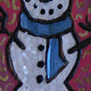 Wood Burned Snowman Series Poster