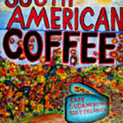 South American Coffee Poster