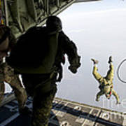 Special Operations Jumpers Exit A C-130 Poster