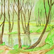 Spring Landscape, Painting Poster