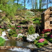 Springtime At The Old Mill Poster