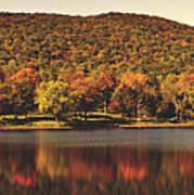 Squantz Pond In Autumn Poster