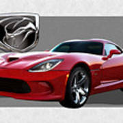 S R T  Viper with  3 D  Badge  Poster