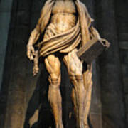 St. Bartholomew In Milan Cathedral By Marco D'agrate Poster