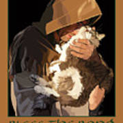 St. Francis With Cat Poster