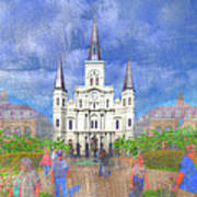 St Louis Cathedral  Poster