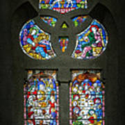 Stained Glass At The Manizales Cathedral In Colombia Poster