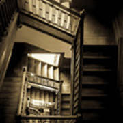 Staircase In Swannanoa Mansion Poster