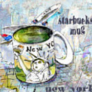 Starbucks Mug New York Poster