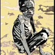 Starving African Boy Poster
