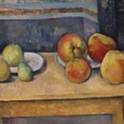Still Life With Apples And Pears Poster