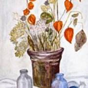 Still Life with Chinese Lanterns Poster