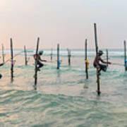 Stilt Fishermen - Sri Lanka Poster