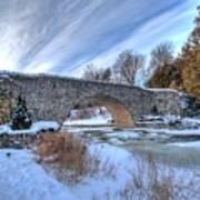 Stone Bridge At Webster Falls Poster