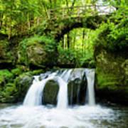 Stone Bridge Over River Poster