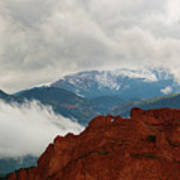 Storm Brewing At Garden Of The Gods Poster