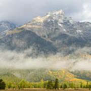 Storm On Grand Teton Poster