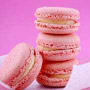 Strawberry Flavor Macaroons Poster