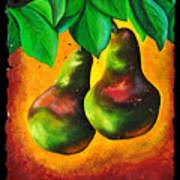 Study Of Two Pears Poster