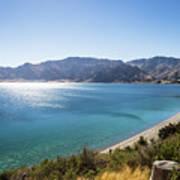 Stunning Hawea Lake In New Zealand Poster
