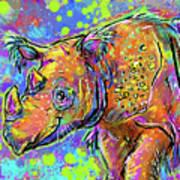 Sumatran Rhino Poster