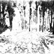 Sumie Landscape Poster