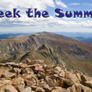 Summit Of Mount Bierstadt In The Arapahoe National Forest Poster