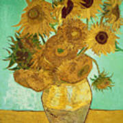 Sunflowers Poster by Vincent Van Gogh