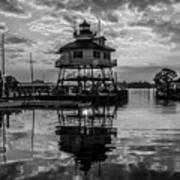 Sunrise At Drum Point Lighthouse Poster