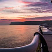 Sunrise At Saltburn Pier Poster