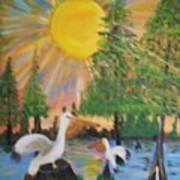 Sunrise In The Pelican State Poster