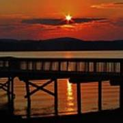 Sunrise Over The Pier Poster