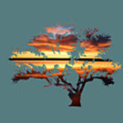 Sunrise Tree Poster