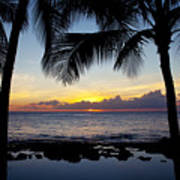 Sunset - Oahu West Shore Poster