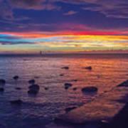 Sunset At Mauritius Poster