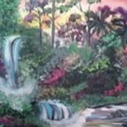 Sunset Falls Poster